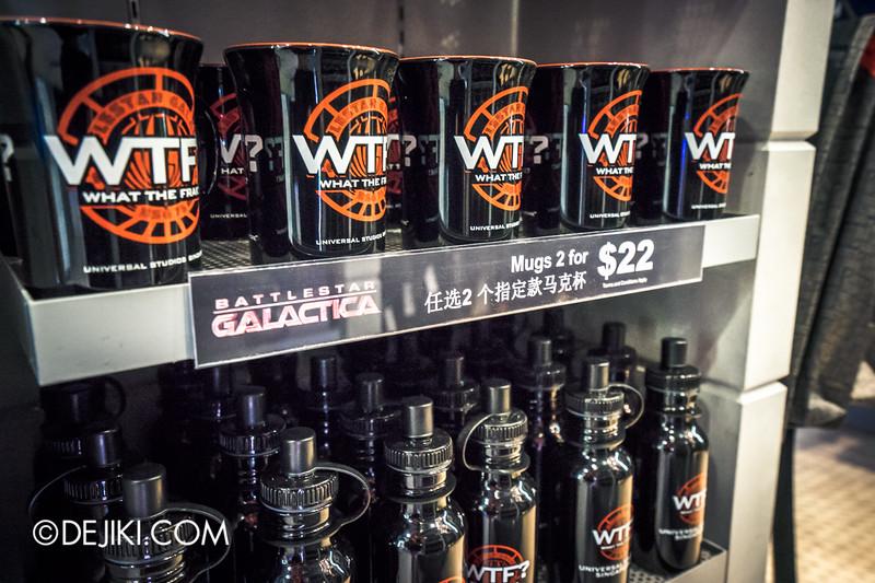 Universal Studios Singapore - Park Update June 2015 - Battlestar Galactica dueling roller coaster / Galactica PX Retail Store / Mugs