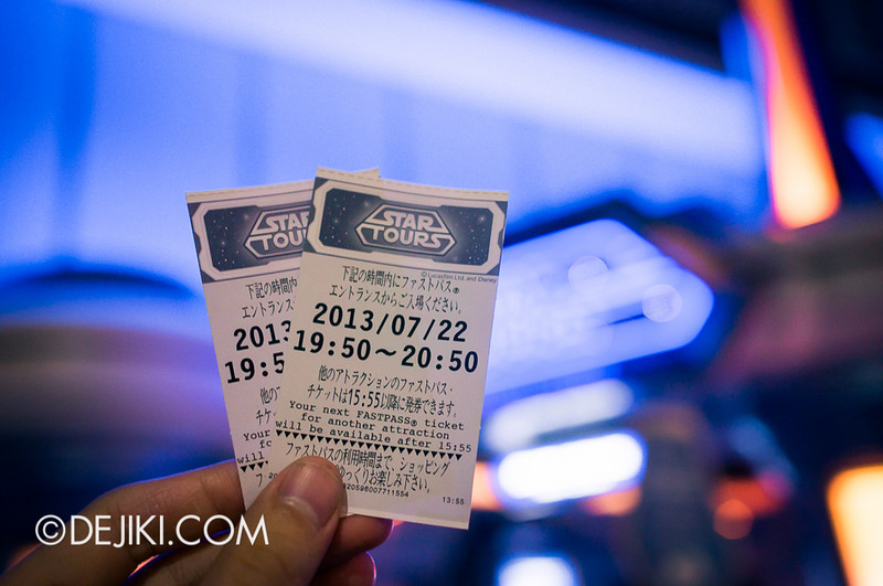 Star Tours: The Adventures Continue Fastpasses!