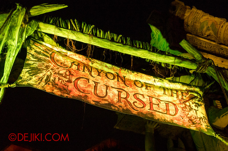 Halloween Horror Nights 4 - Canyon of the Cursed scare zone - Scare zone Banner