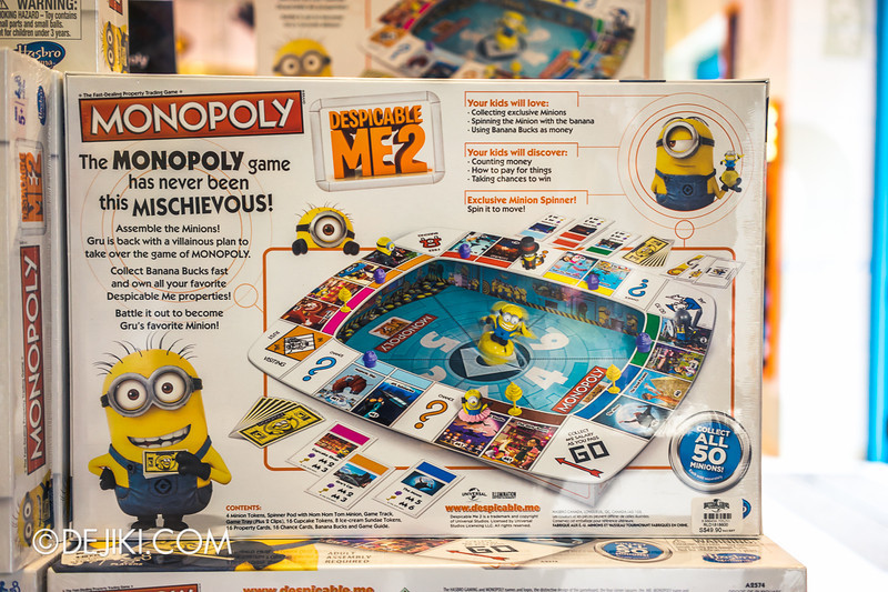 Universal Studios Singapore - Park Update June 2014 - USS Minion Mart / Despicable Me Monopoly Board Game 2