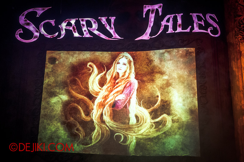 Halloween Horror Nights 4 - Scary Tales scare zone - Rapunzel's Page