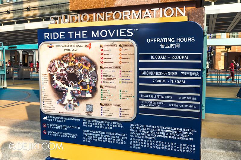 Universal Studios Singapore - Park Update October 2014 - New Studio Information Board