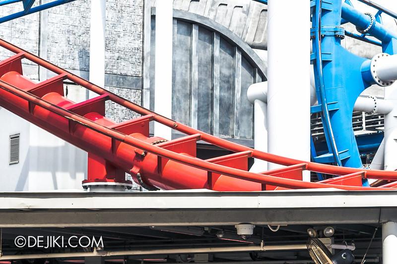 Universal Studios Singapore - Park Update June 2014 - Battlestar Galactica Rollercoaster Repair Works 3