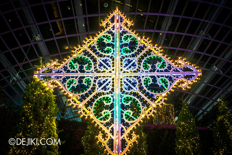 Gardens by the Bay - Yuletide in the Flower Dome at night - Diamond