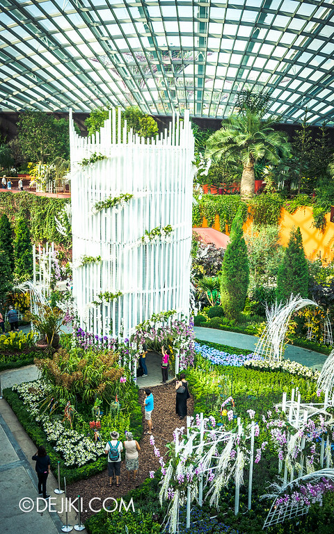 Gardens by the Bay - Orchid Extravaganza - Flower Field Overview 2