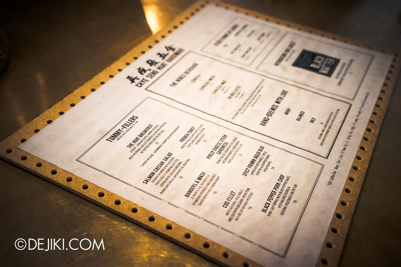 Chye Seng Huat Hardware Coffee Cafe Bar 10 - Food menu