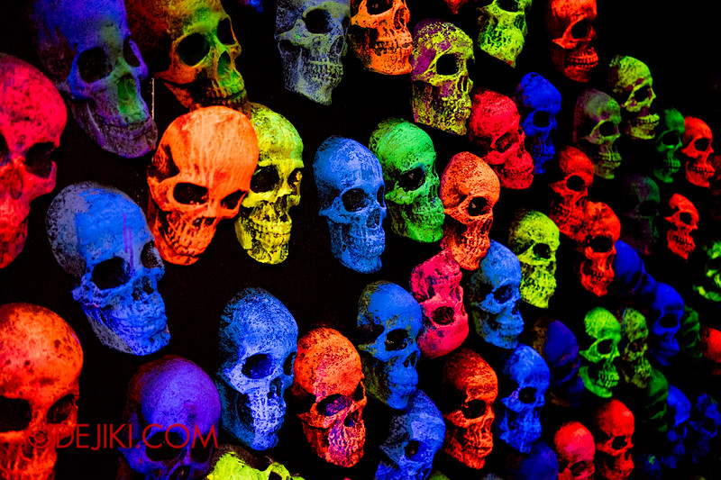 Sentosa Spooktacular 2014 - COUNTDOWN Haunted House / 3D maze - skulls