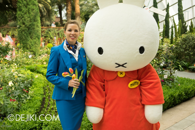 Miffy with KLM Flight Stewardess 1