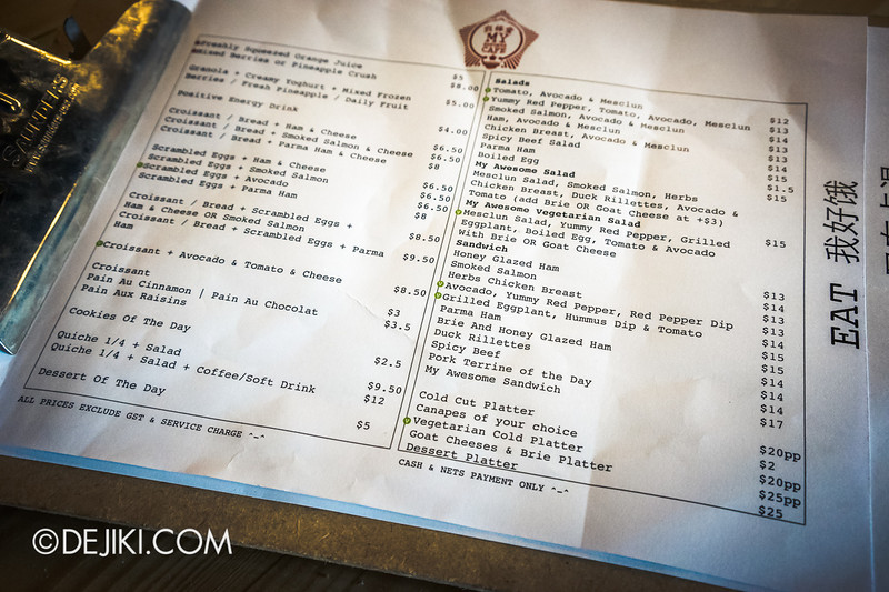 My Awesome Cafe - 6 / Food Menu