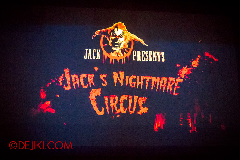 Halloween Horror Nights 4 - Jack's Nightmare Circus - Waiting for the show to start
