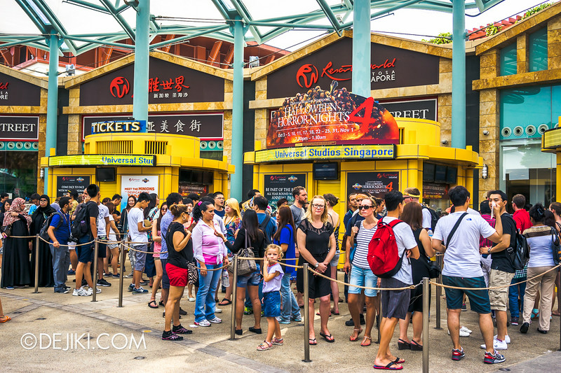 Universal Studios Singapore - Park Update August 2014 - HHN4 Billboard at USS Ticket Counters