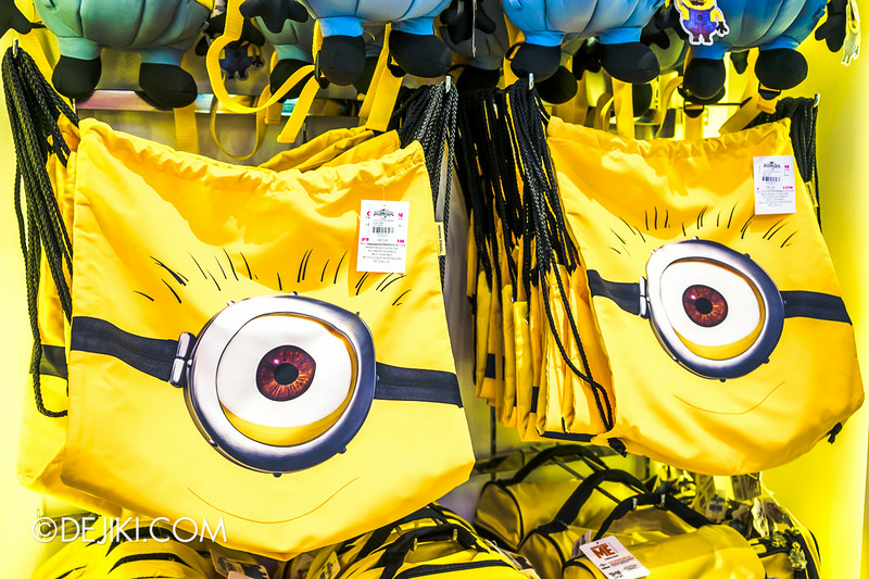 Universal Studios Singapore - Park Update July 2014 - Minion Drawstring Bags