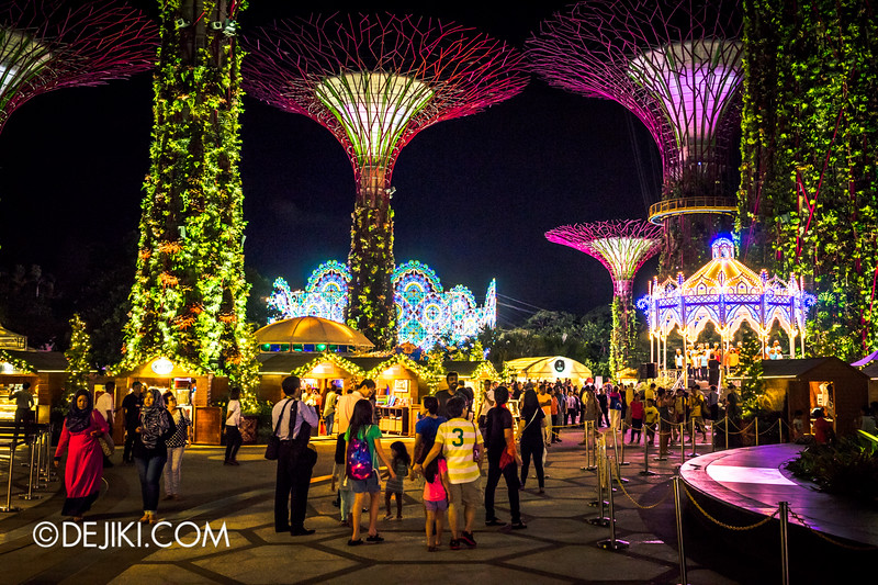 Gardens by the Bay - Winter Wonderland 2014 - Supertree Grove