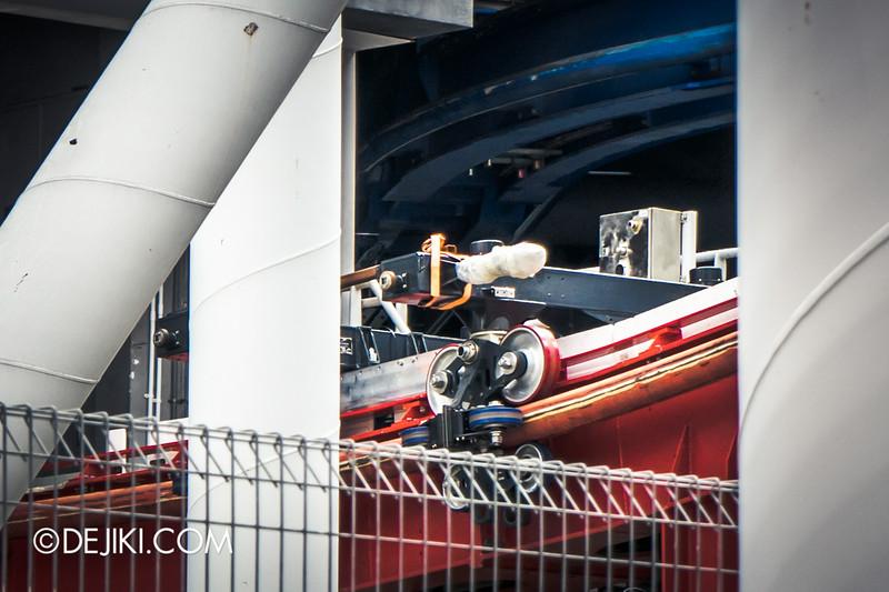 Universal Studios Singapore - Park Update September 2014 - BSG Battlestar Galactica - equipment at the HUMAN lift hill