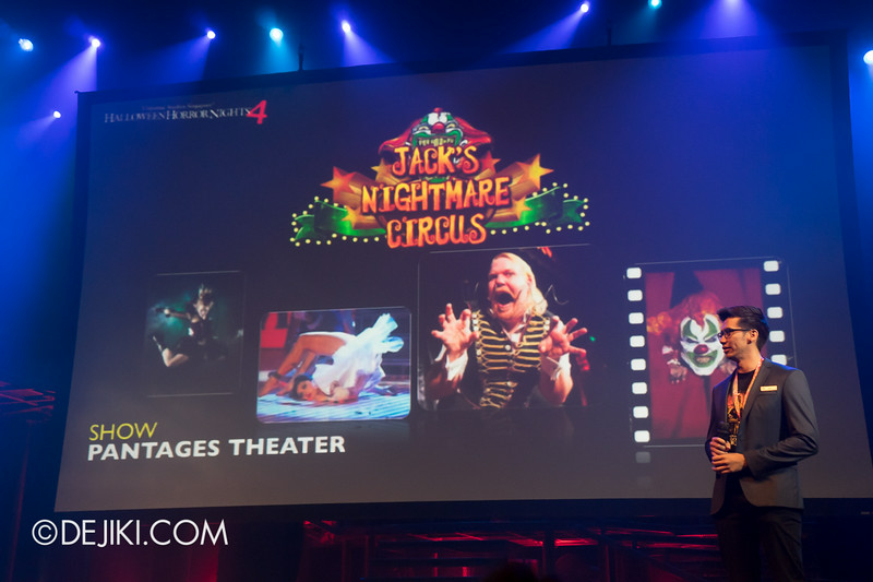 USS HHN4 Halloween Horror Nights 4 - Media Preview Launch event / JACK'S NIGHTMARE CIRCUS