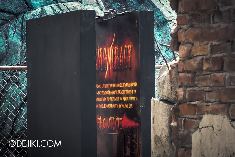 Halloween Horror Nights 4 Singapore - Before Dark 4 - DEMONCRACY - The Street Display - Showtimes