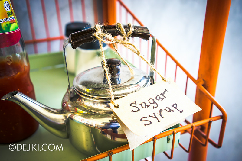 Tian Kee & Co. Cafe - Sugar syrup in a tiny kettle