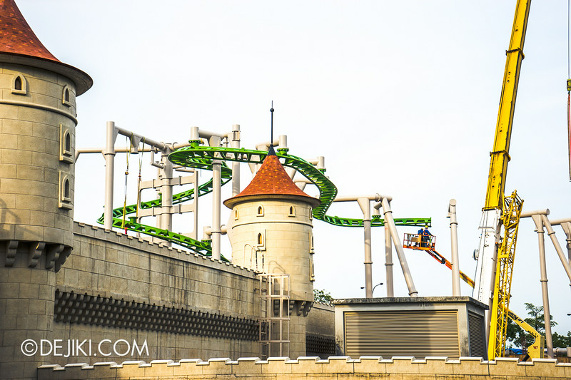 Universal Studios Singapore - Park Update July 2014 - Puss in Boots rollercoaster update 1