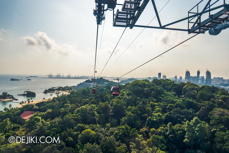 Singapore Cable Car Sky Network - Sentosa Line, Siloso aerial view