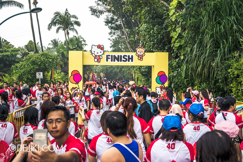 Hello Kitty Run Singapore - Reaching the Finish point