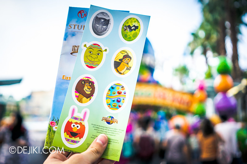 Universal Studios Singapore - Easter Egg Stickers