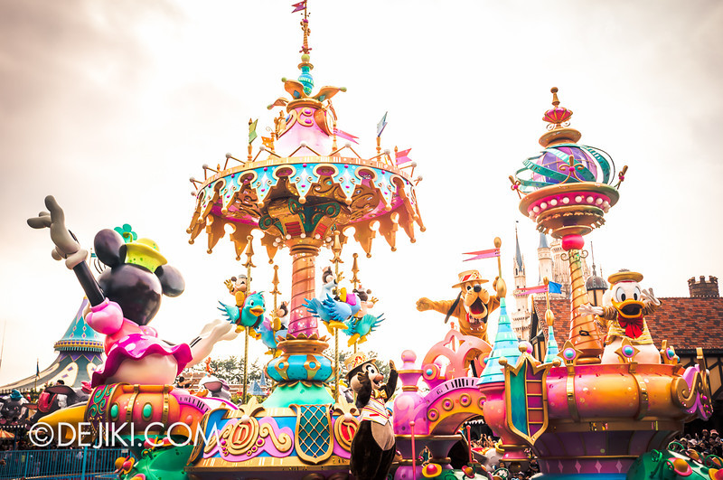Tokyo Disneyland - Happiness is Here Parade 37 / Grand Finale, Carousel, Pluto, Chip