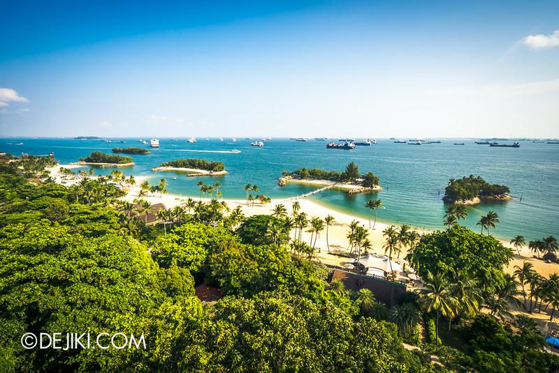 Singapore Cable Car Sky Network - Sentosa Line, Siloso beach
