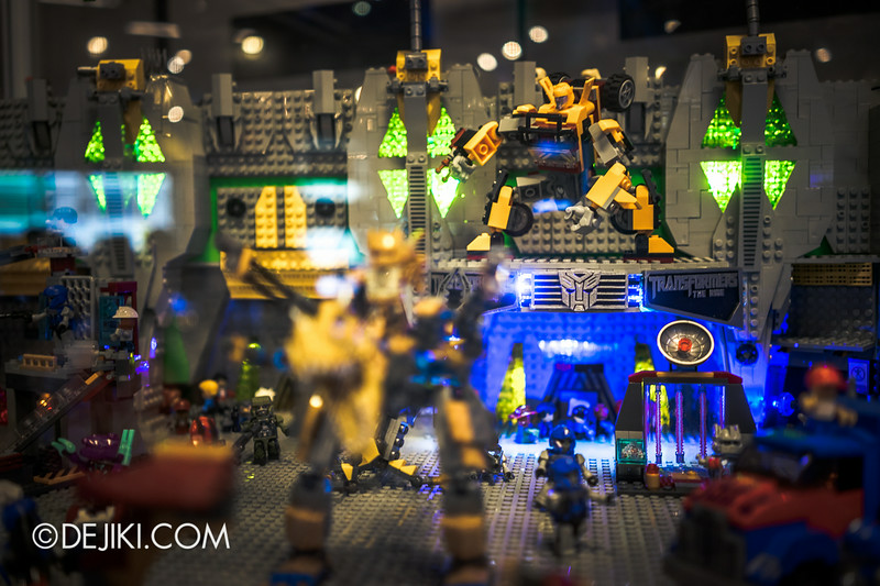 Universal Studios Singapore - Park Update July 2014 - Transformers Sci-Fi City KRE-O Diorama at Transformers Supply Vault 5