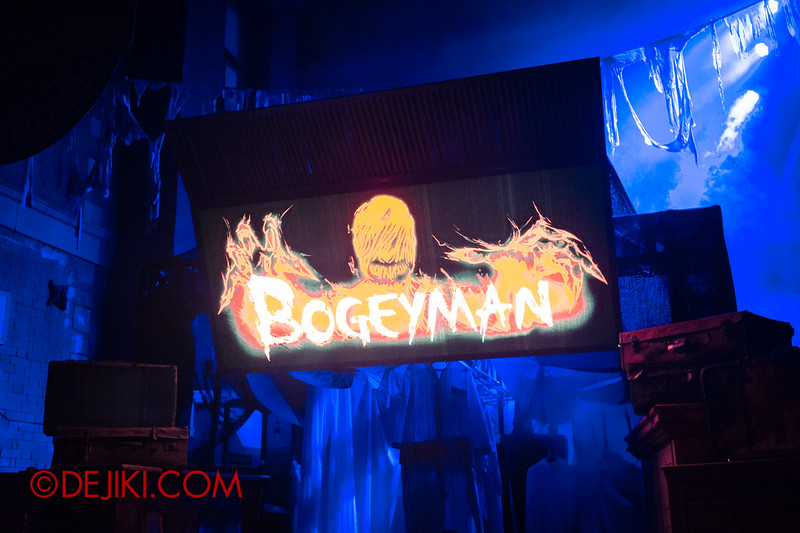 Halloween Horror Nights 4 - Bogeyman scare zone - the signage