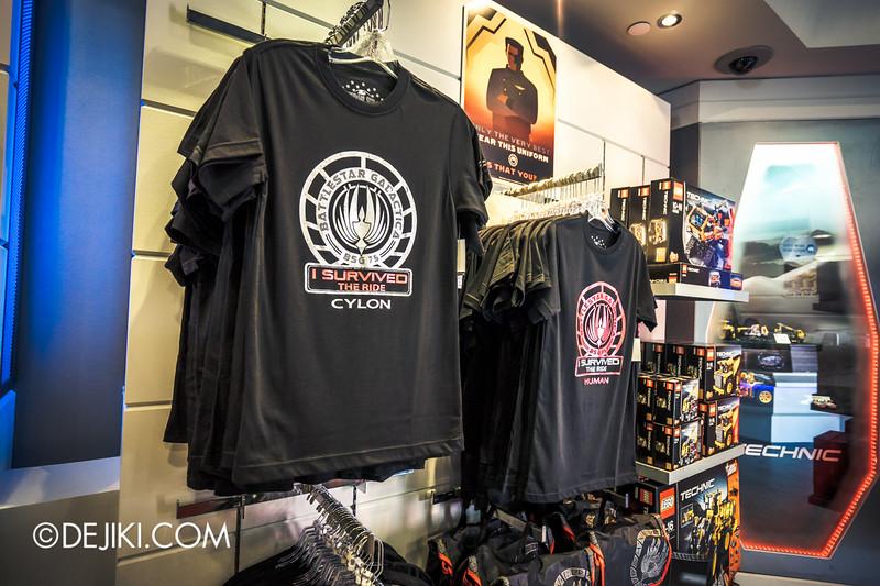 Universal Studios Singapore - Park Update June 2015 - Battlestar Galactica dueling roller coaster / Galactica PX Retail Store / T-Shirts