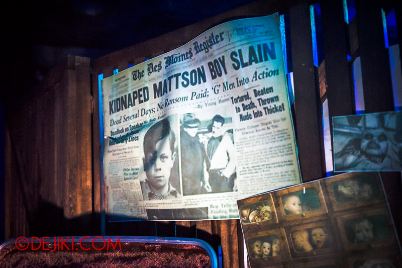 Halloween Horror Nights 4 - Bogeyman scare zone - news clippings and scary photos 5