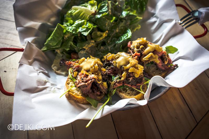 ROUSE on Dunlop - Open-faced Roast Beef Sandwich
