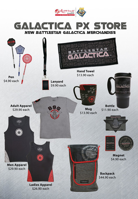 Universal Studios Singapore - Park Update June 2015 - Battlestar Galactica dueling roller coaster / Galactica PX Retail Store 2015 New Merchandise and Souvenirs