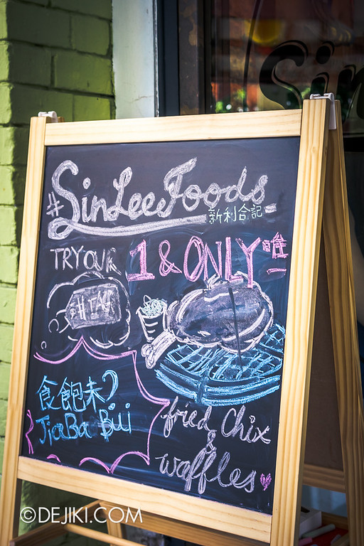Sin Lee Foods - Chalk signboard outside