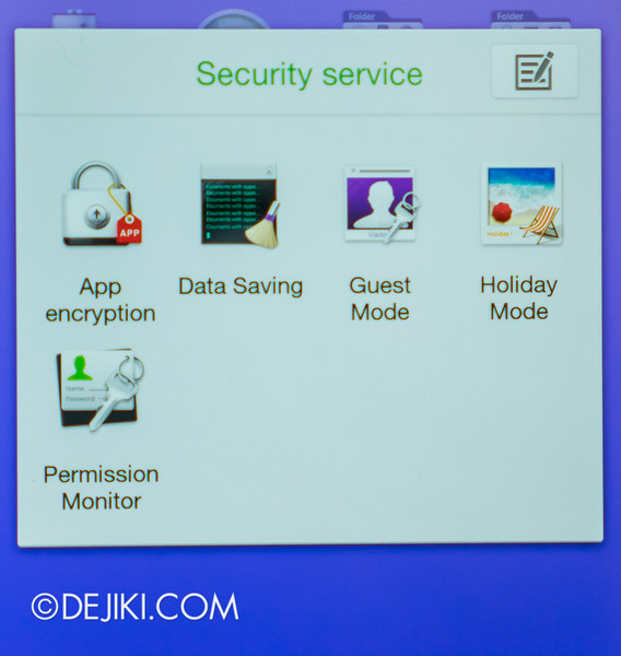 Oppo N1 - Security Service Apps