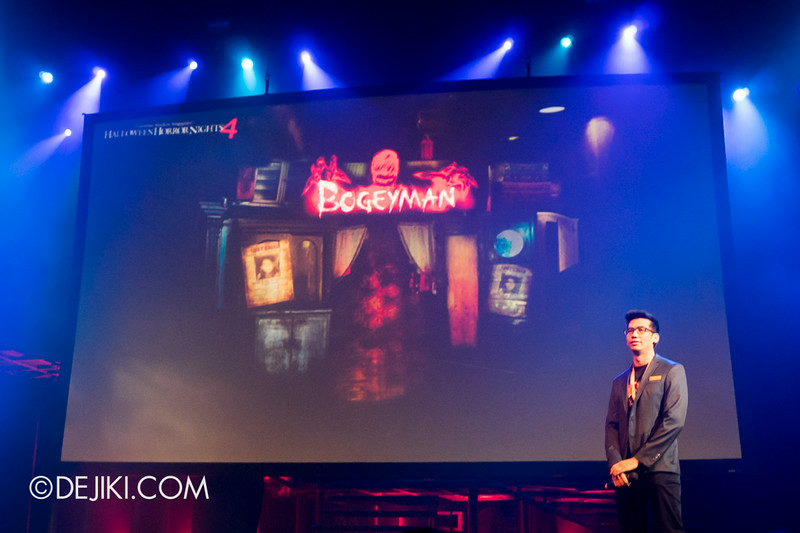 USS HHN4 Halloween Horror Nights 4 - Media Preview Launch event / BOGEYMAN scarezone