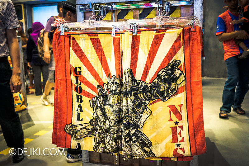 Universal Studios Singapore - Park Update June 2014 - Transformers Large Towel, now on sale at $19.90!
