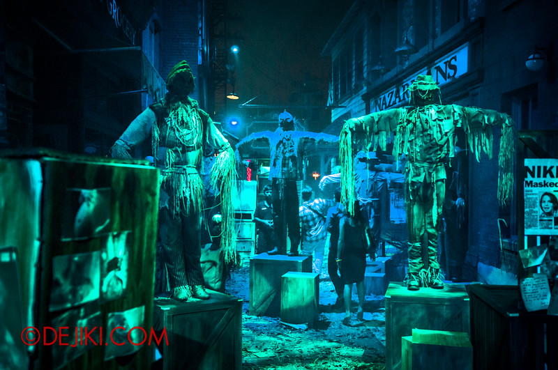Halloween Horror Nights 4 - Bogeyman scare zone - Scary Alley