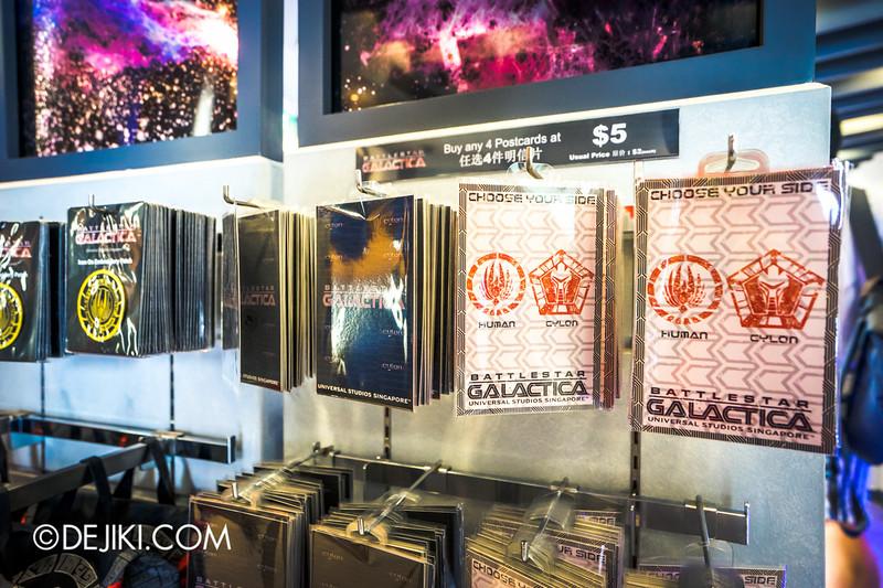 Universal Studios Singapore - Park Update June 2015 - Battlestar Galactica dueling roller coaster / Galactica PX Retail Store / Postcards