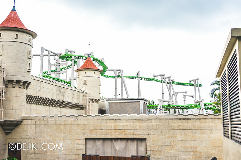 Universal Studios Singapore - Park Update August 2014 - Puss in Boots' Giant Journey roller coaster construction photo 3