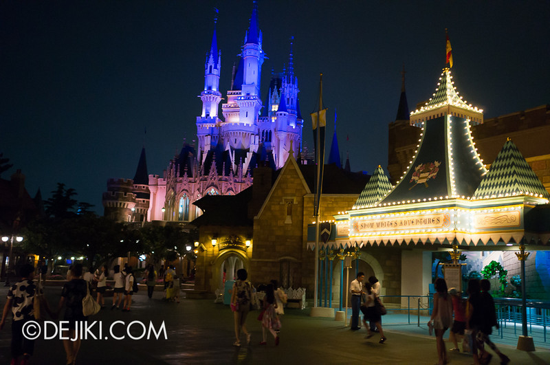 Fantasyland at night - Back of the Castle