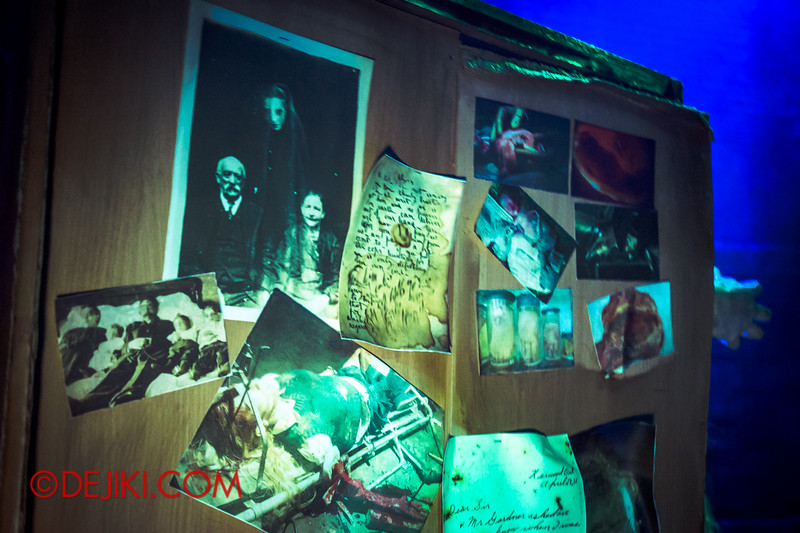 Halloween Horror Nights 4 - Bogeyman scare zone - news clippings and scary photos