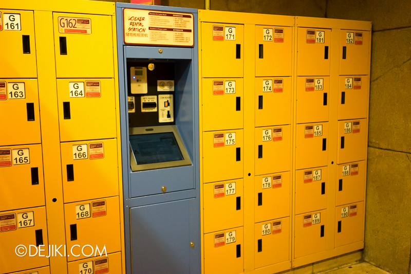 Universal Studios Singapore - Park Update August 2014 - New Biometric Lockers with fingerprint scanners 4
