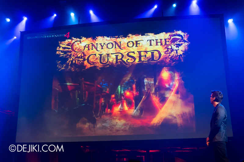 USS HHN4 Halloween Horror Nights 4 - Media Preview Launch event / CANYON OF THE CURSED