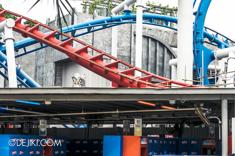 Universal Studios Singapore - Park Update July 2014 - BSG Battlestar Galactica roller coaster repair works 4