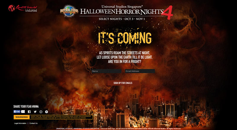 Universal Studios Singapore Park Update - July 2014 - Halloween Horror Nights 4 HHN4