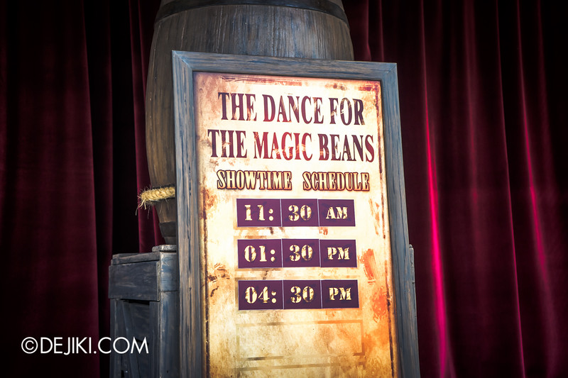Universal Studios Singapore - Park Update September 2014 - The Dance for the Magic Beans Signboard