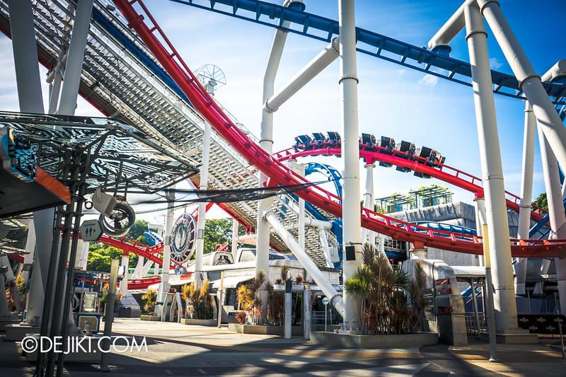 Universal Studios Singapore - Park Update January 2015 - Battlestar Galactica roller-coaster recovery update 1
