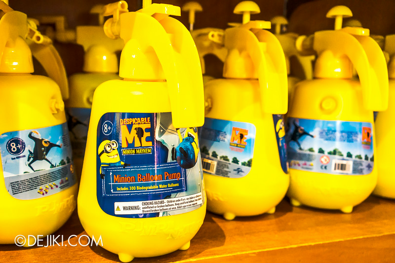 Universal Studios Singapore - Park Update July 2014 - Despicable Me Minion Balloon Pump
