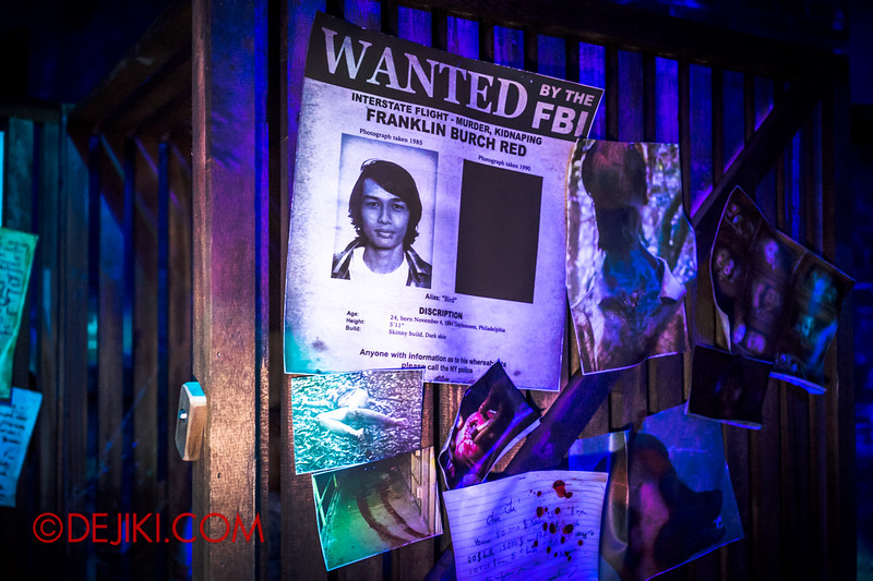 Halloween Horror Nights 4 - Bogeyman scare zone - news clippings and scary photos 4